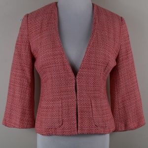 East 5th Small Pink Tweed Lined Cropped Blazer